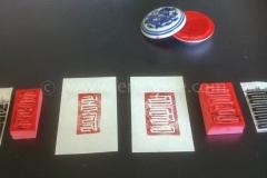 Handgemaakte stempel, Tibetaans, rubber