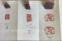 Handgemaakte stempel, Japans, draak, steen
