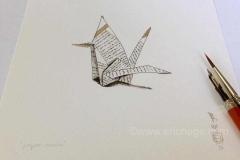 kraanvogel, tekening