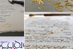 Certificaat met 23.75krt bladgoud - kalligrafie - 2021
