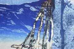 """""""Mer des trésors"""", collage grafisch materiaal, 40 x 50 cm (detail)"""