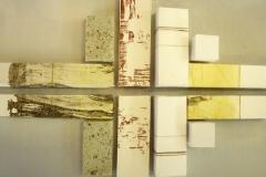 """""""Witte stad, 3-dimensionaal  grafisch werk, 70 x 40 cm"""